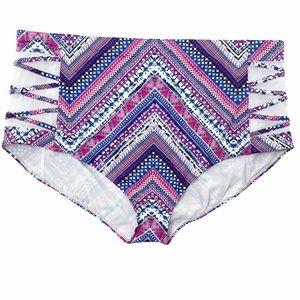 NWOT Torrid High Waisted chevron bikini bottoms